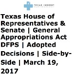 DFPS House Senate Adopted Comparisons