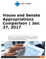 House and Senate Appropriations Comparison