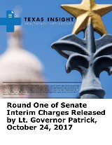 Round One of Senate Interim Charges Released by Lt. Governor Patrick