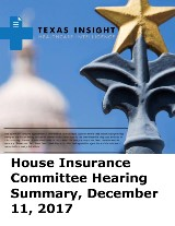 House Insurance Committee and TX Waiver Options