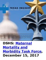 DSHS: Maternal Mortality and Morbidity Task Force