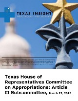 Texas House of Representatives Committee on Appropriations: Article II Subcommittee