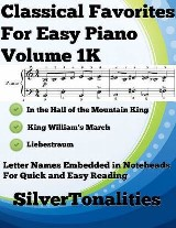 Classical Favorites for Easy Piano Volume 1 K
