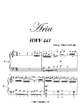 Aria Preludio Easy Piano Sheet Music