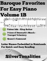 Baroque Favorites for Easy Piano Volume 1 B