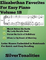 Elizabethan Favorites for Easy Piano Volume 1 B