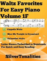 Waltz Favorites for Easy Piano Volume 1 F