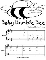 Baby Bumble Bee - Beginner Piano Sheet Music Tadpole Edition