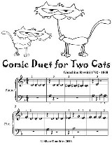 Comic Duet for Two Cats - Beginner Piano Sheet Music Tadpole Edition