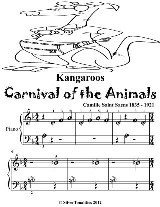 Kangaroos Carnival of the Animals - Beginner Piano Sheet Music Tadpole Edition