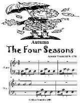 Autumn the Four Seasons - Beginner Piano Sheet Music Tadpole Edition