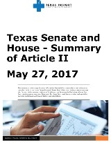 Texas Senate and House Summary of Article II