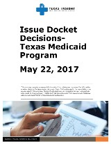 Issue Docket Decisions- Texas Medicaid Program