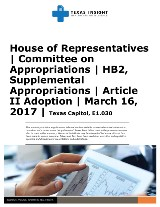 House of Representatives Committee on Appropriations Article II Adoption