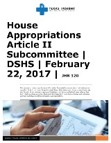 HAC: Article II Subcommittee - DSHS