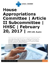 HAC: Article II Subcommittee - HHSC
