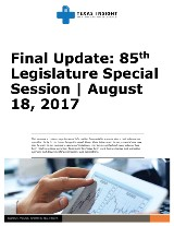 Final Update: 85th Legislature Special Session