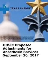 HHSC: Proposed Adjustments for Anesthesia Services