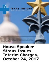House Speaker Straus Issues Interim Charges