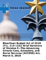 Bipartisan Budget Act of 2018: Brief Summary of Division E - The ACCESS Act