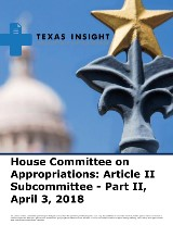 House Committee on Appropriations: Article II Subcommittee - Part II