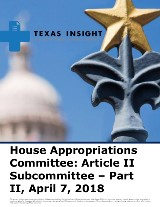 House Appropriations Committee: Article II Subcommittee - Part II