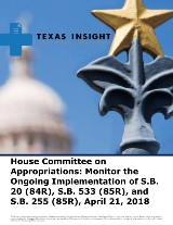 House Appropriations: Ongoing Implementation of SB 20, SB 533, & SB 255