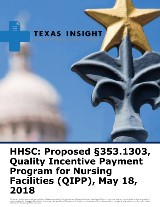 HHSC: Proposed §353.1303, Quality Incentive Payment Program for Nursing Facilities (QIPP)