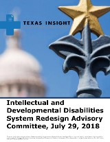 Intellectual and Developmental Disabilities System Redesign Advisory Committee