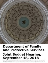 Department of Family and Protective Services Joint Budget Hearing