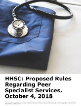 HHSC: Proposed Rules Regarding Peer Specialist Services