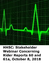 HHSC: Stakeholder Webinar Concerning Rider Reports 60 and 61a