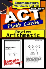 ACT Test Prep Arithmetic Review--Exambusters Flash Cards--Workbook 6 of 13