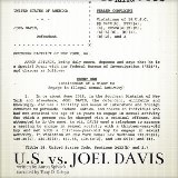 United States Vs. Joel Davis