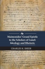 Maimonides' Grand Epistle to the Scholars of Lunel