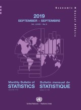 Monthly Bulletin of Statistics, September 2019/Bulletin mensuel de statistique, Septembre 2019