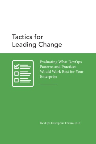 Tactics for Leading Change