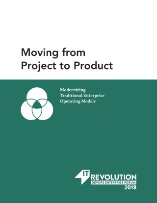 Moving from Project to Product